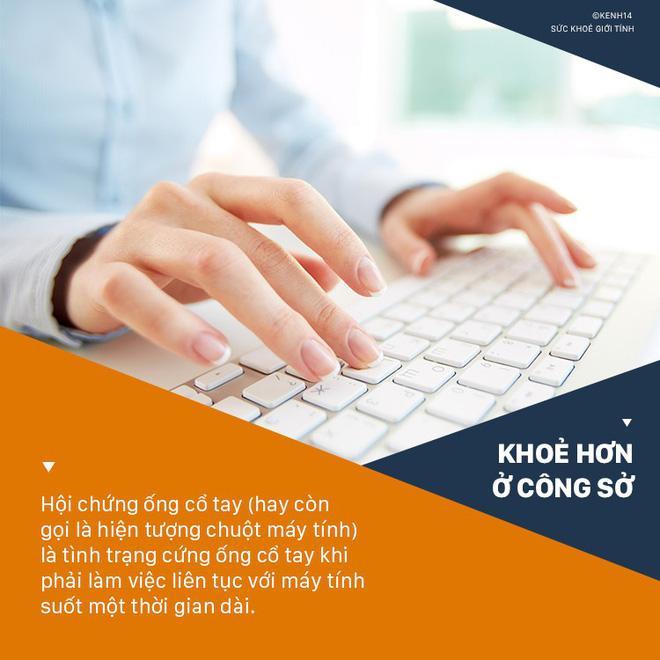 Dân văn phòng làm việc với máy tính nhiều sẽ có nguy cơ cao phải đối mặt với 4 căn bệnh ở tay sau đây - Ảnh 3
