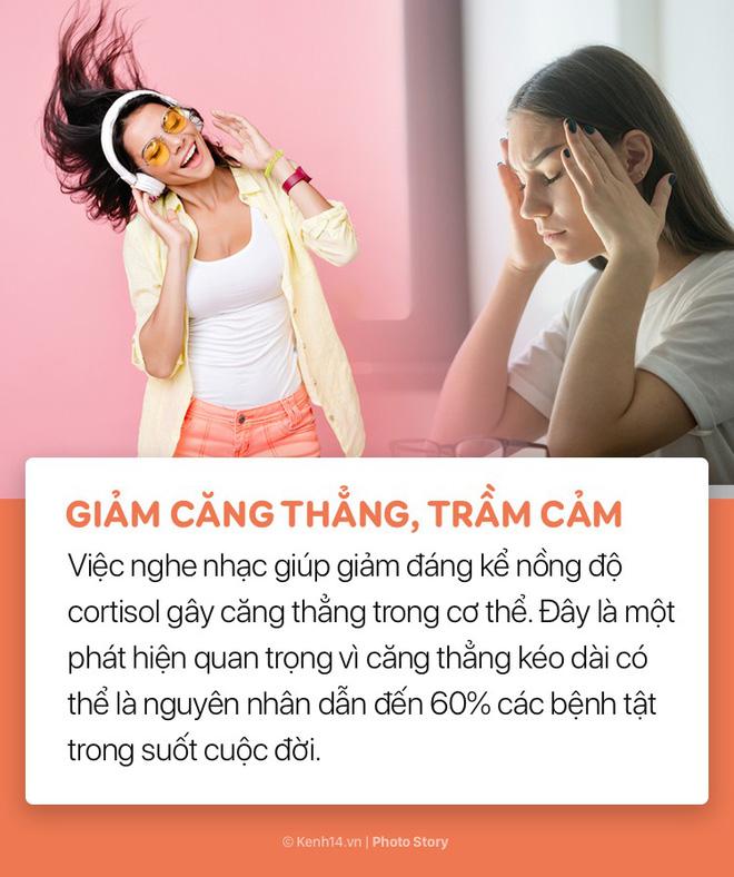 Giảm stress và nhiều lợi ích bất ngờ của việc nghe nhạc đối với sức khoẻ - Ảnh 2