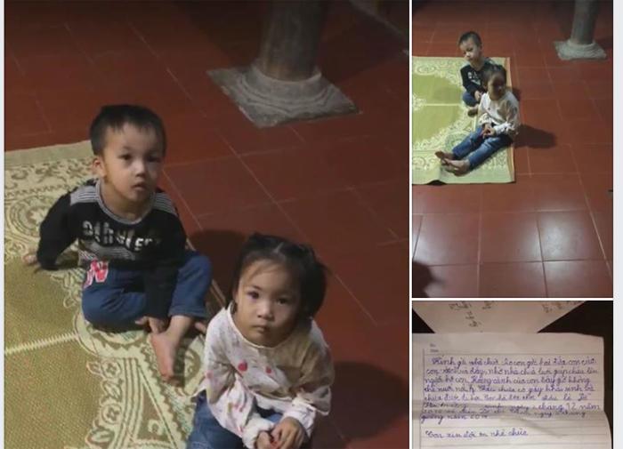 Bỏ rơi 2 con thơ trong chùa, người mẹ trẻ để lại tâm thư nhờ nuôi hộ - Ảnh 1