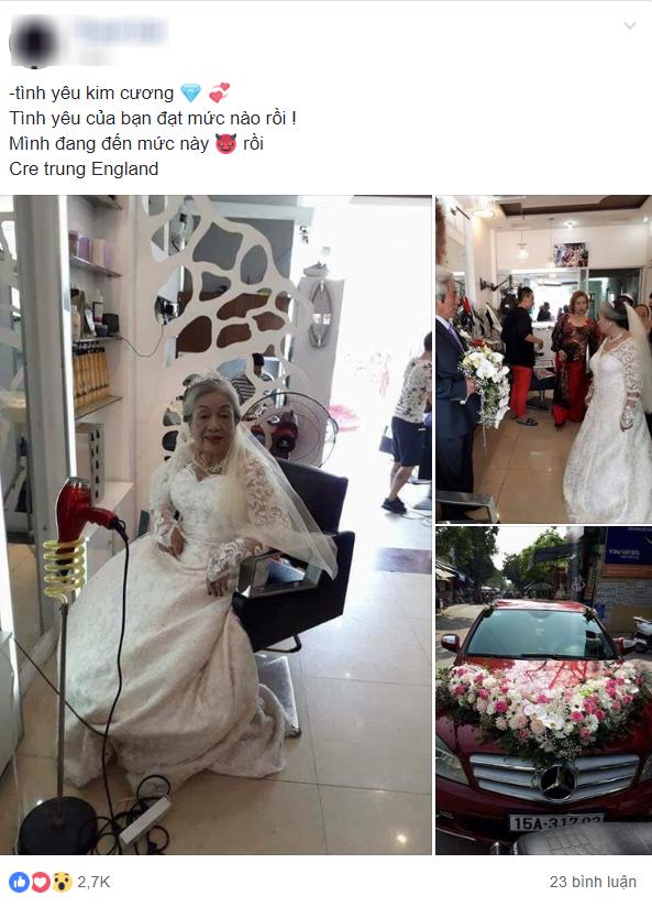 Bức ảnh đám cưới kim cương đong đầy yêu thương của 'ông bà anh' khiến cư dân mạng trầm trồ ngưỡng mộ - Ảnh 1
