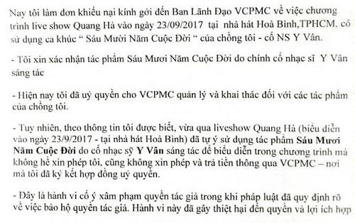 Live concert Quang Hà bị nhiều nhạc sĩ khiếu nại vi phạm tác quyền - Ảnh 4
