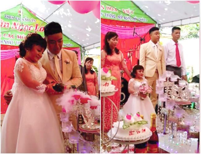 Những cặp 'đũa lệch' từng 'gây bão' mạng: Cô dâu thấp còi lấy được chồng bảnh trai, đám cưới phải bắt ghế hôn - Ảnh 1