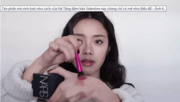 Tán phấn má xinh tươi như cách của Hà Tăng đảm bảo Valentine này chàng chỉ có mê như điếu đổ - Ảnh 4