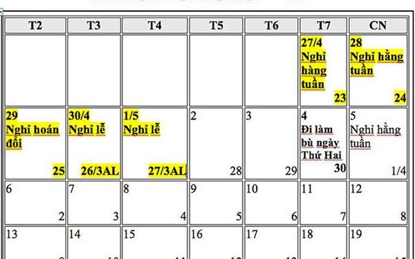 Trình gộp nghỉ lễ 30/4-1/5 và Tết Dương lịch, liệu có khả thi? - Ảnh 2