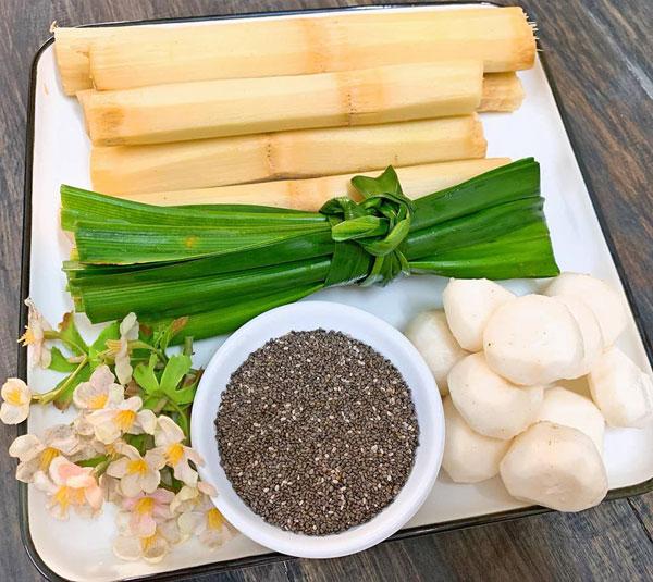Cách nấu nước mía lau củ năng hạt chia đường phèn giải khát ngày hè - Ảnh 2
