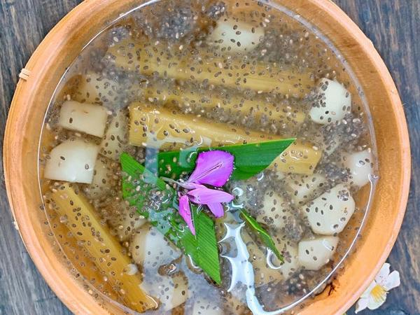 Cách nấu nước mía lau củ năng hạt chia đường phèn giải khát ngày hè - Ảnh 1