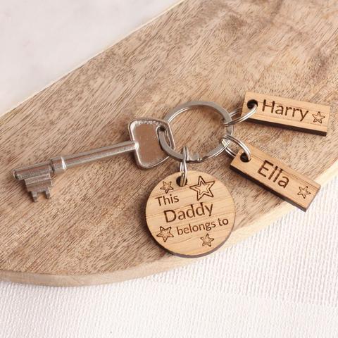 Móc khắc gỗ lời yêu thương tặng Ngày của Cha