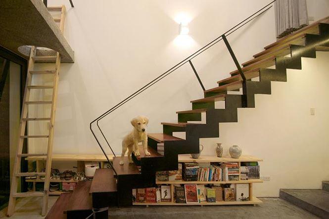 Nhà trong hẻm đẹp thoáng mát của chàng độc thân Hà Nội trên báo Tây - Ảnh 6