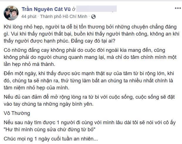 Trương Quỳnh Anh xác nhận từng cố gắng tái hợp nhưng bất thành, Tim liền đăng dòng trạng thái đầy ẩn ý - Ảnh 1