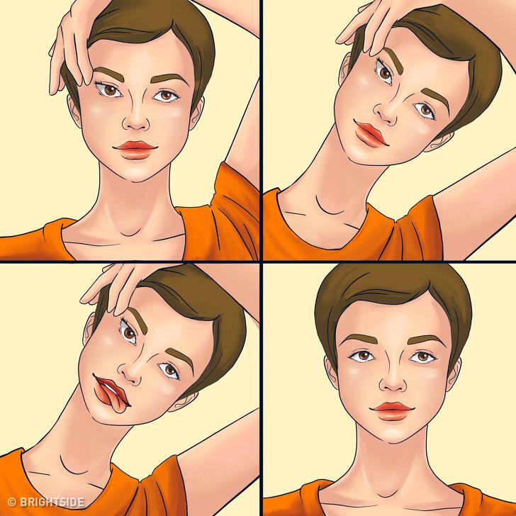 Muốn sở hữu làn da trắng mướt như gái Hàn, tươi trẻ như gái Nhật, hãy thực hiện 7 bài tập yoga cho khuôn mặt này mỗi ngày - Ảnh 5