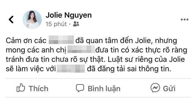 Hoa hậu Jolie Nguyễn tuyên bố xử lý mạnh tay những người tung tin sai sự thật - Ảnh 1