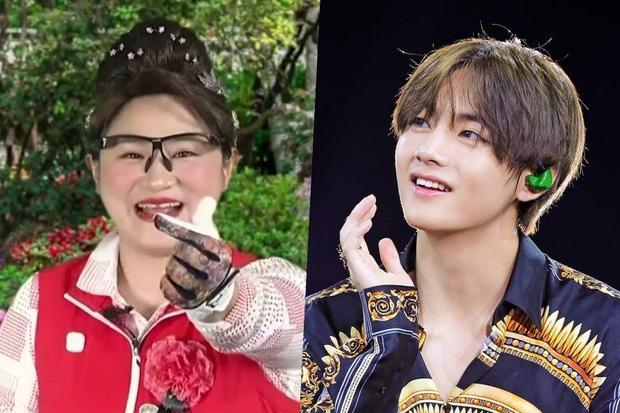 V (BTS) được nữ nghệ sĩ hài gọi là cháu trai và cảm ơn vì đã giúp quảng bá bài hát mới - Ảnh 1