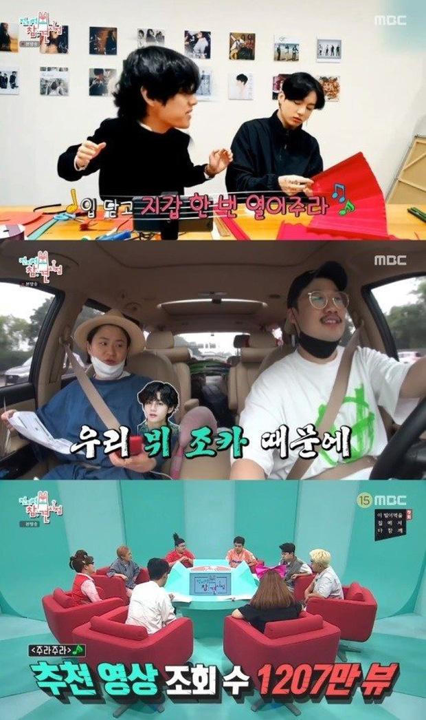 V (BTS) được nữ nghệ sĩ hài gọi là cháu trai và cảm ơn vì đã giúp quảng bá bài hát mới - Ảnh 2