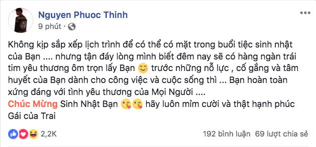Đang dính kiện tụng, Noo Phước Thịnh vẫn không quên nhắn nhủ Đông Nhi: 'Thật hạnh phúc nhé gái của trai' - Ảnh 2