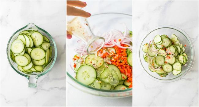 Chỉ mất 10 phút bạn có thể làm được món salad dưa chuột giòn ngon xuất sắc - Ảnh 3