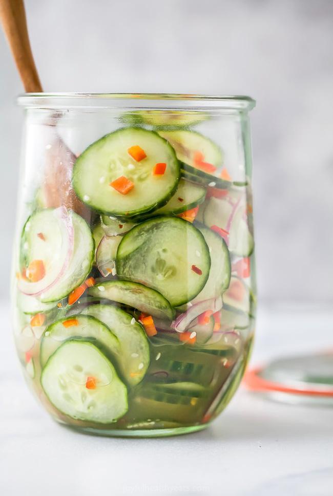 Chỉ mất 10 phút bạn có thể làm được món salad dưa chuột giòn ngon xuất sắc - Ảnh 4