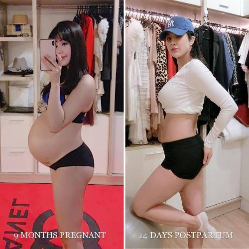 14 ngày sau sinh, Diệp Lâm Anh buồn lòng vì bụng vẫn bự như bầu 6 tháng - Ảnh 1