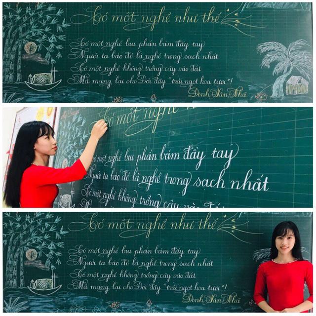 Lần đầu tiên xuất hiện thầy giáo có nét chữ 'rồng bay phượng múa', đẹp đến độ tưởng đúc từ khuôn - Ảnh 4