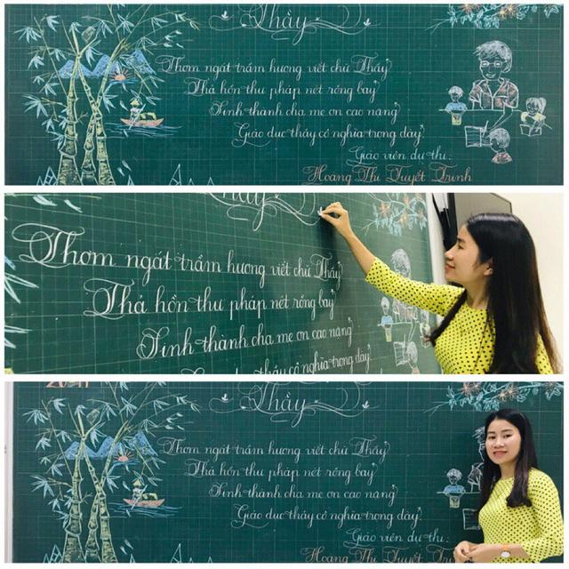 Lần đầu tiên xuất hiện thầy giáo có nét chữ 'rồng bay phượng múa', đẹp đến độ tưởng đúc từ khuôn - Ảnh 5