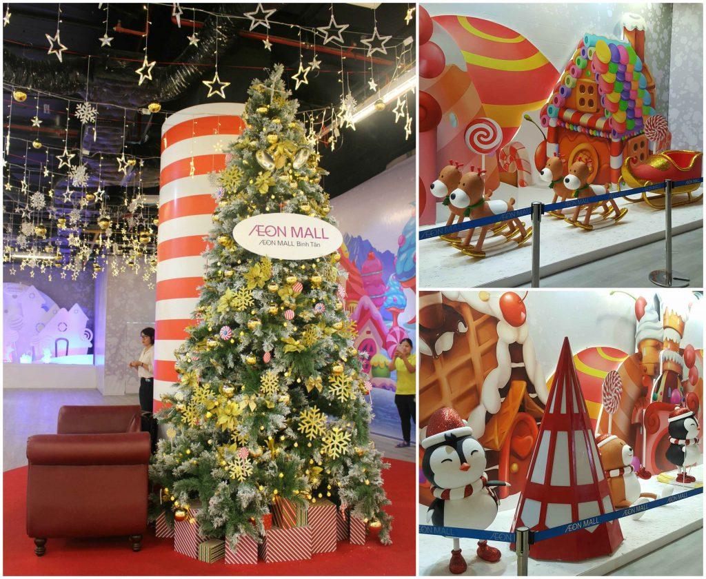 Các trung tâm thương mại rộn ràng ngày Giáng sinh