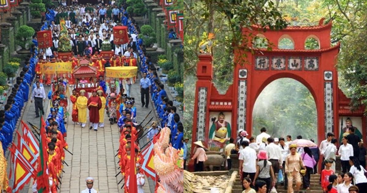 Giỗ tổ Hùng Vương được tổ chức vào ngày mùng 10 tháng 3 âm lịch hàng năm