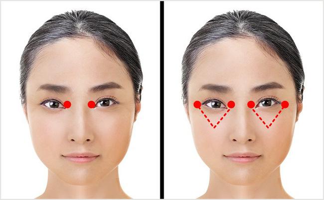 Học phụ nữ Nhật ấn vào các điểm này quanh đôi mắt mỗi ngày, nếp nhăn, quầng thâm hay bọng mắt đều biến mất - Ảnh 3