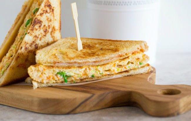 Làm bánh mì sandwich kiểu Hàn cho bữa trưa nhanh gọn đủ chất - Ảnh 5