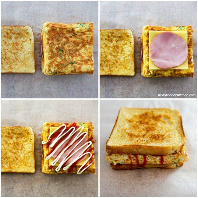Làm bánh mì sandwich kiểu Hàn cho bữa trưa nhanh gọn đủ chất - Ảnh 4