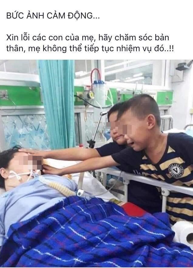 Góc khuất đau lòng sau bức ảnh 2 con trai khóc nghẹn chạm mặt mẹ lần cuối trên giường bệnh - Ảnh 1