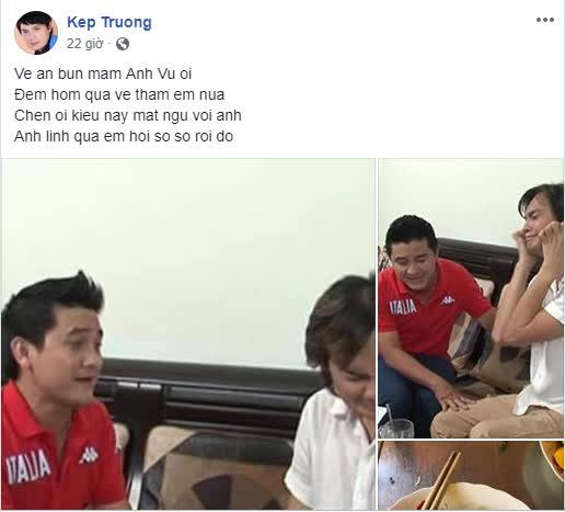 Nghệ sĩ Kim Tiểu Long mất ngủ vì liên tục mơ thấy Anh Vũ: 'Anh linh quá em hơi sợ sợ rồi đó' - Ảnh 1