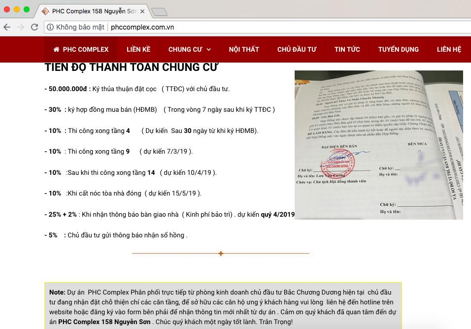 Bán căn hộ chung cư PHC Complex 158 Nguyễn Sơn ngoài luật? - Ảnh 3