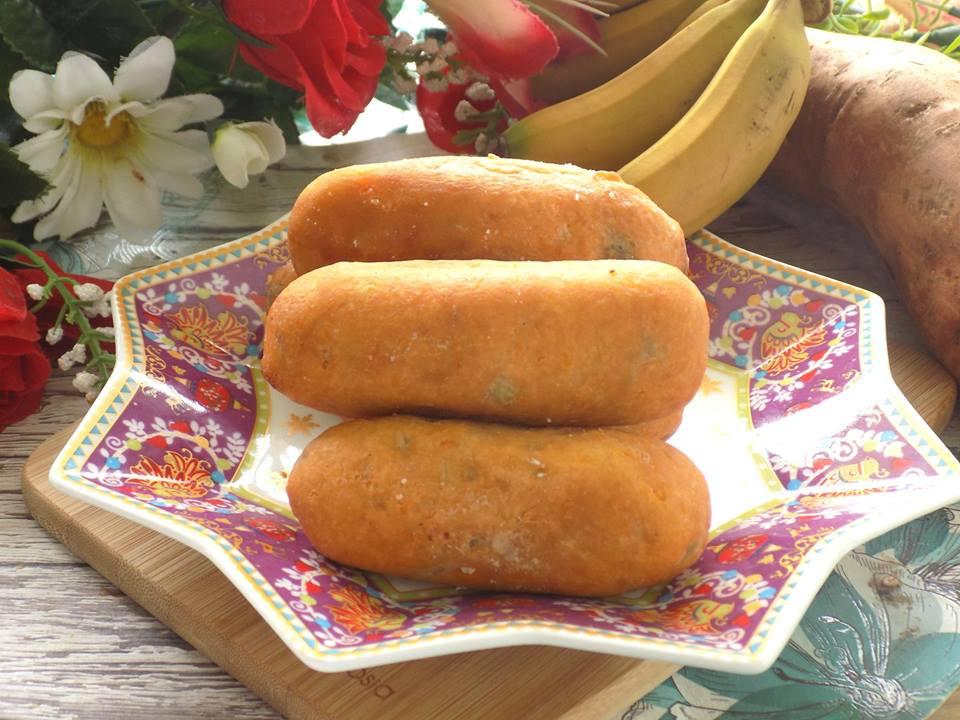Cách làm bánh chuối khoai lang chiên giòn rụm, ăn hoài không biết chán - Ảnh 5