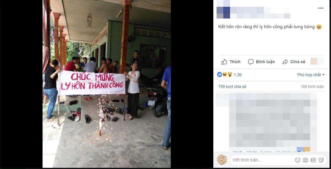 Bức ảnh cả làng mở tiệc 'chúc mừng ly hôn thành công' khiến cộng đồng mạng được phen cười bò - Ảnh 1