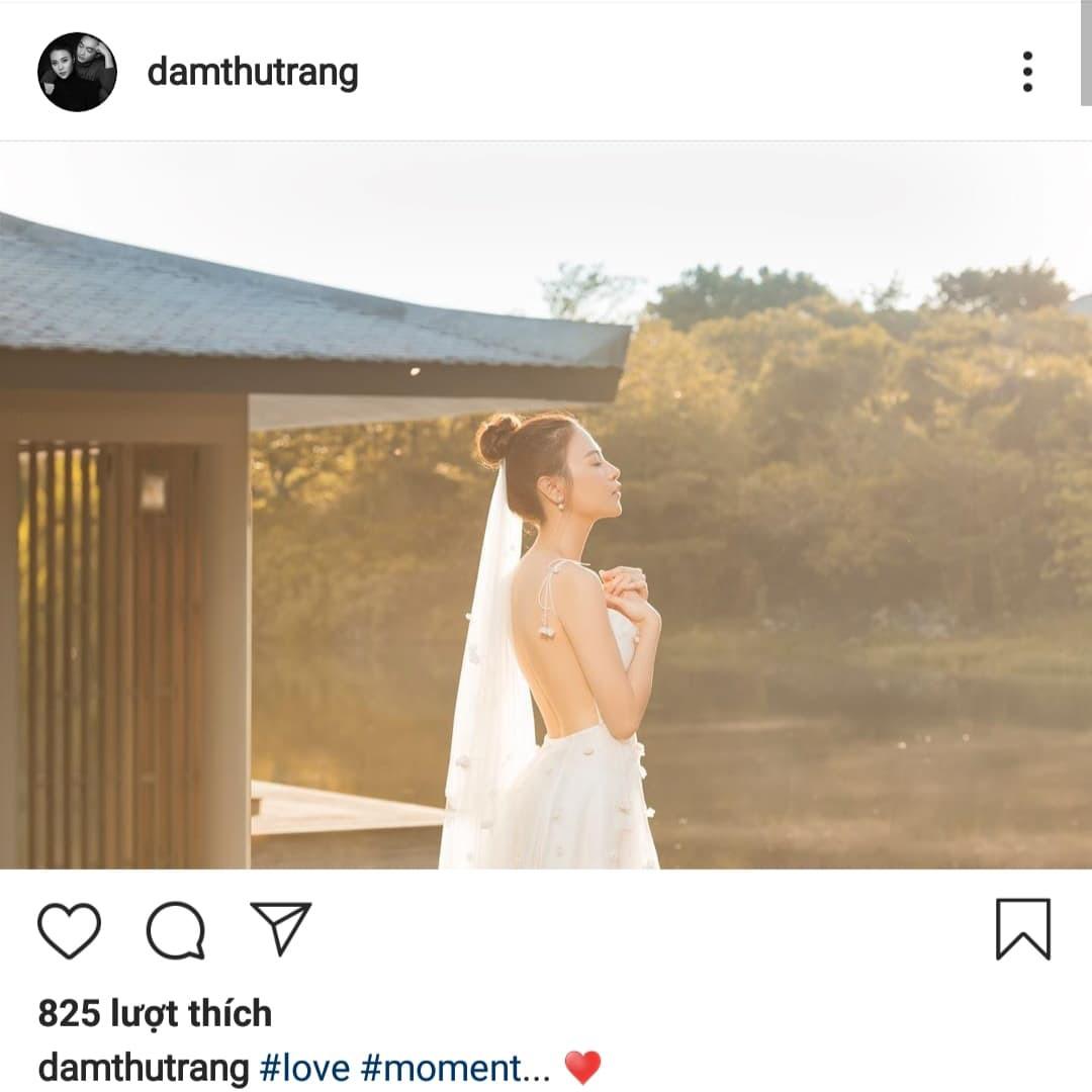 Đàm Thu Trang biểu hiện 'tăng động' trước giờ G, tung ảnh cưới 'đẹp phát hờn' - Ảnh 3