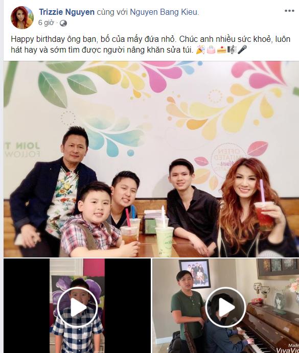 Ly hôn 6 năm, vợ cũ bất ngờ gửi lời chúc mừng sinh nhật Bằng Kiều với nội dung đặc biệt, fan mong ngày tái hợp - Ảnh 1