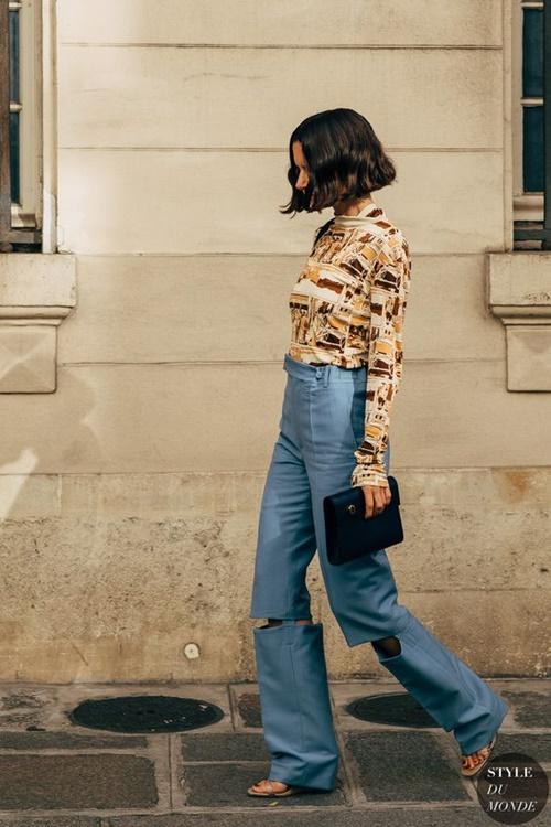 Quên kiểu quần jeans bó giò đi, đây mới là mốt jeans thống trị 2019 - Ảnh 4