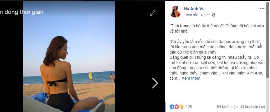 Hà Anh ứa nước mắt khi vào thăm người mẫu 9x bị ung thư: 'Em nằm đó, chỉ còn da bọc xương' - Ảnh 1