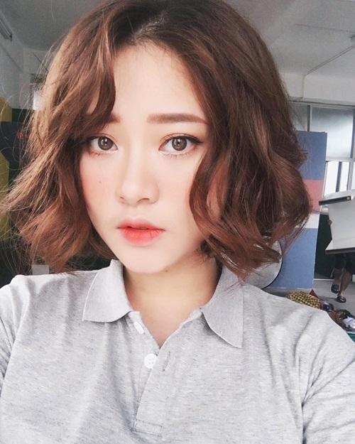8 kiểu tóc ngắn cho cô nàng mặt tròn thêm xinh trong mùa hè - Ảnh 9