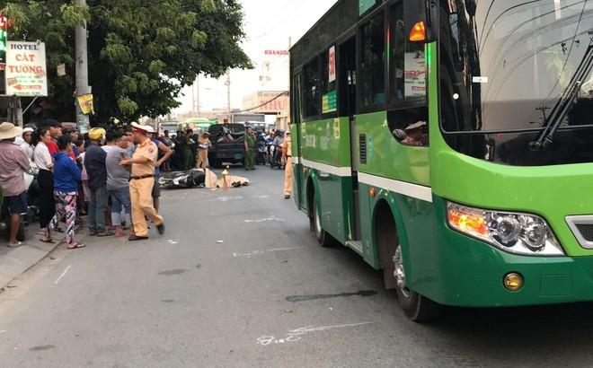 Phanh gấp tránh ô tô nên ngã ra đường, người đàn ông bị xe buýt cán tử vong - Ảnh 1