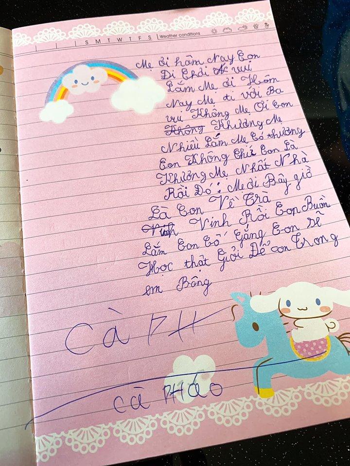 Đang bầu bí, Lê Phương nghẹn ngào khi đọc thư con trai gửi lúc cậu bé sắp xa mẹ - Ảnh 2