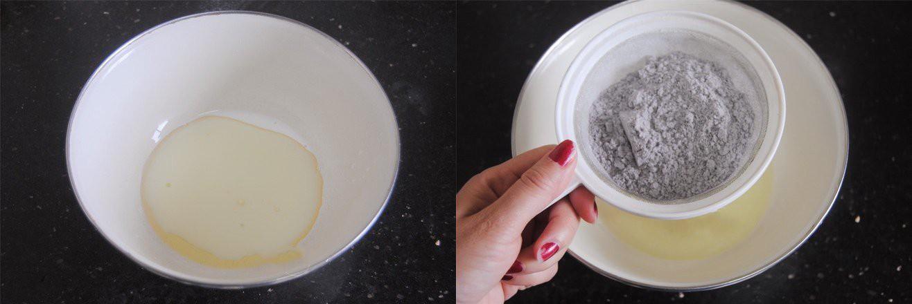 Dùng gạo nếp cẩm làm bánh bông lan cuộn chà bông thật dễ dàng ăn cho 'healthy' nào! - Ảnh 1