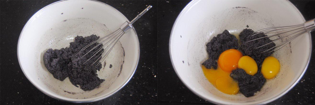 Dùng gạo nếp cẩm làm bánh bông lan cuộn chà bông thật dễ dàng ăn cho 'healthy' nào! - Ảnh 2