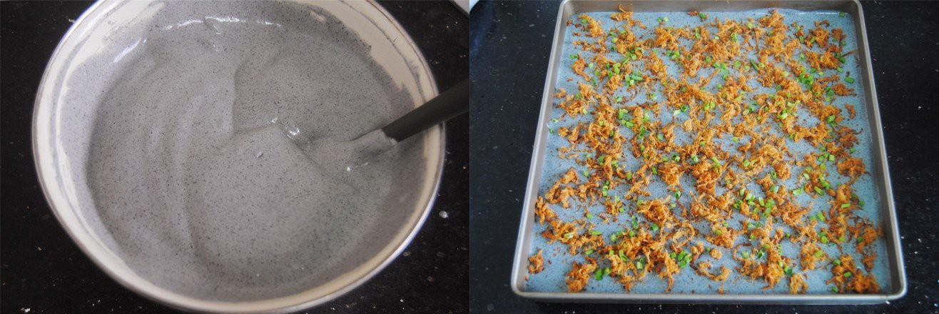 Dùng gạo nếp cẩm làm bánh bông lan cuộn chà bông thật dễ dàng ăn cho 'healthy' nào! - Ảnh 4