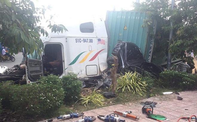 Vụ tai nạn kinh hoàng khiến 5 người tử vong ở Tây Ninh: Lời khai của tài xế container - Ảnh 1