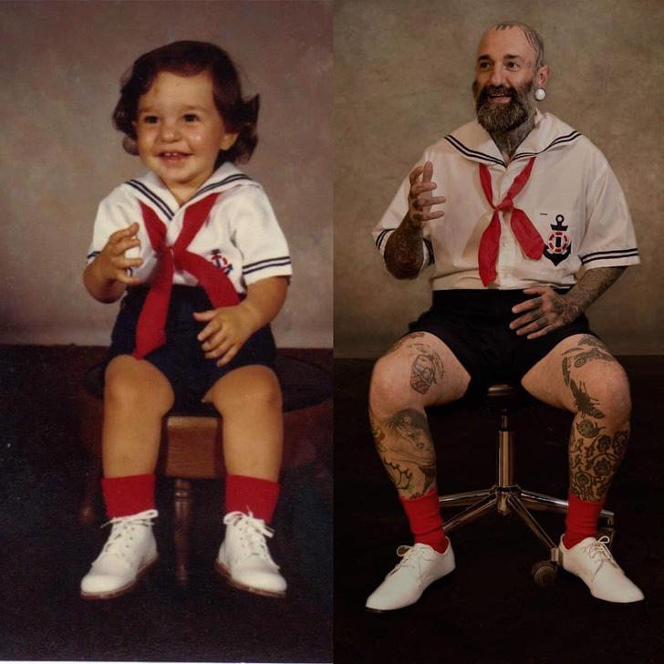 Các bố mẹ thi nhau khoe những bức hình chụp con ngày ấy - bây giờ, điều thú vị nằm ở 1 chi tiết đặc biệt - Ảnh 2