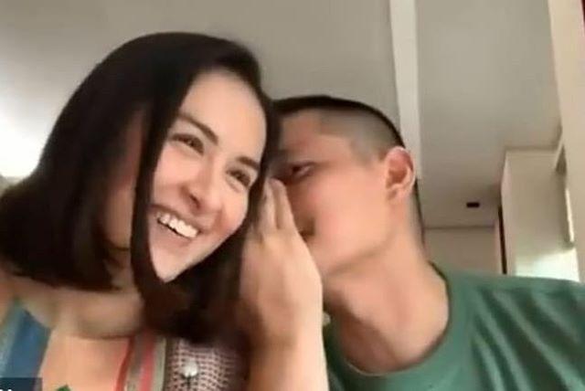 Ông xã tài tử của 'mỹ nhân đẹp nhất Philippines' Marian Rivera công khai khóa môi vợ đầy tình tứ - Ảnh 3