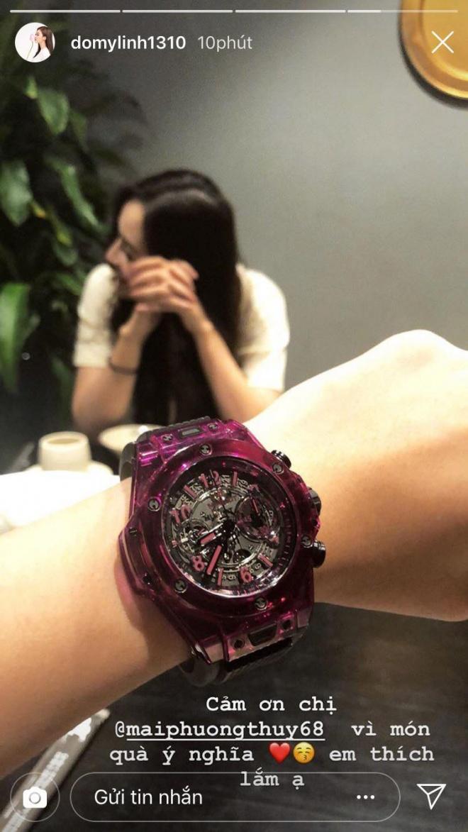 Chịu chơi như Mai Phương Thuý, tặng hẳn đồng hồ bạc tỉ cho Đỗ Mỹ Linh - Ảnh 2