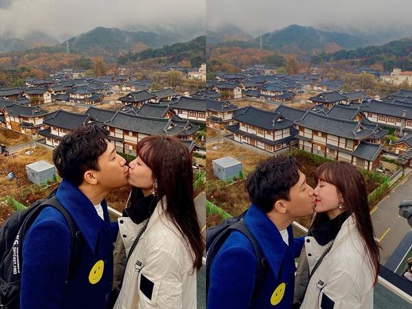 Trấn Thành đăng ảnh khóa môi bà xã cực tình cảm ở Hàn Quốc: 3 năm kết hôn vẫn mặn nồng như thuở mới yêu - Ảnh 2