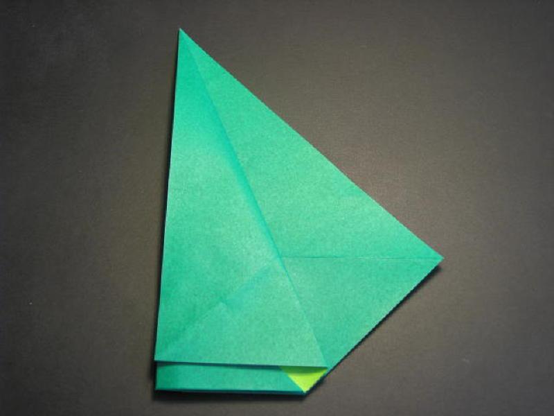 Vẫy giữ nguyên chiều như vậy, gấp ngược 1 cạnh như hình vẽ