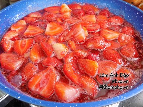 Cách làm mứt dâu tây để uống sữa chua hay làm bánh rất ngon - Ảnh 4